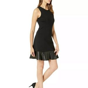 Michael kors NWT black dress PM with ruffled hem